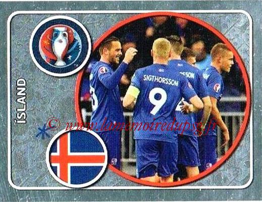 Panini Euro 2016 Stickers - N° 571 - Équipe d' Islande
