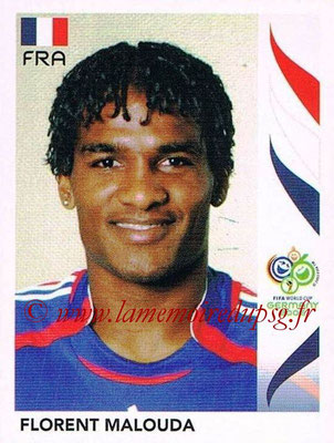 2006 - Panini FIFA World Cup Germany Stickers - N° 465 - Florent MALOUDA (France)