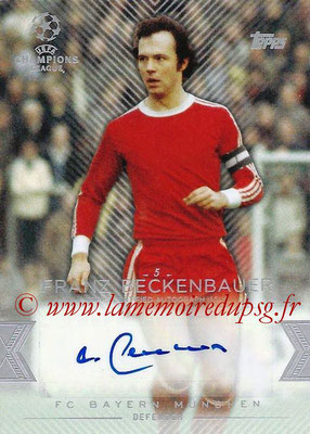 2015-16 - Topps UEFA Champions League Showcase Soccer - N° CLA-FB - Franz BECKENBAUER (FC Bayern Munich) (Base Autographs Cards)