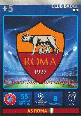 2014-15 - Adrenalyn XL champions League N° 024 - Logo AS Roma (Club Badge)