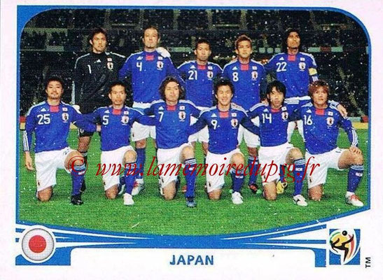 2010 - Panini FIFA World Cup South Africa Stickers - N° 372 - Équipe Japon