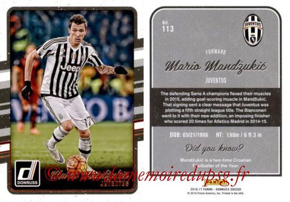 2016 - Panini Donruss Cards - N° 113 - Mario MANDZUKIC (Juventus FC)