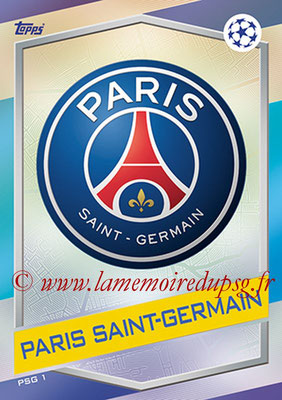 2016-17 - Topps UEFA Champions League Match Attax - N° PSG1 - Logo Paris Saint-Germain