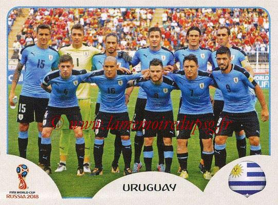 2018 - Panini FIFA World Cup Russia Stickers - N° 093 - Equipe Uruguay