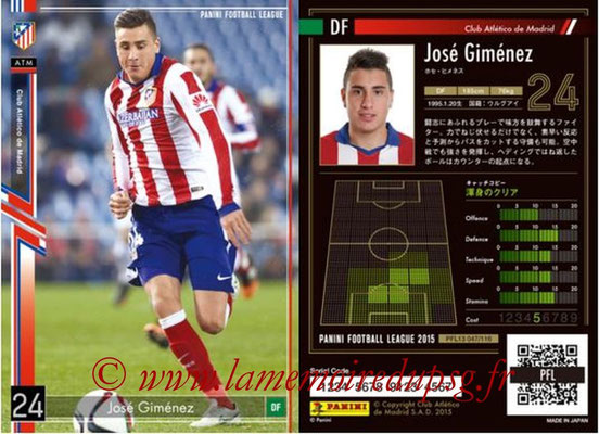 Panini Football League 2015 - PFL13 - N° 047 - José GIMENEZ (Club Atletico de Madrid)