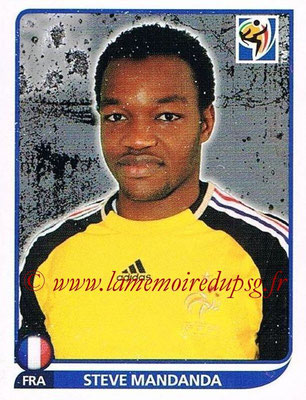 2010 - Panini FIFA World Cup South Africa Stickers - N° 090 - Steve MANDANDA (France)