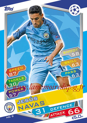 2016-17 - Topps UEFA Champions League Match Attax - N° MC9 - Jesus NAVAS (Manchester City FC)