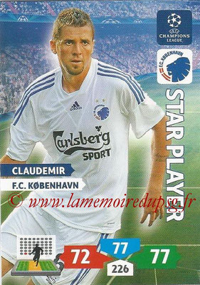 2013-14 - Adrenalyn XL champions League N° 160 - CLAUDEMIR (FC Kobenhavn) (Star Player)