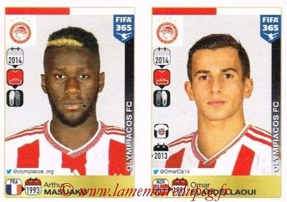 2015-16 - Panini FIFA 365 Stickers - N° 526-527 - Arthur MASUAKU + Omar ELABDELLAOUI (Olympiacos FC)