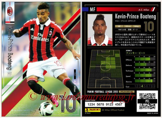 Panini Football League 2013 - PFL04 - N° 005 - Kevin-Prince BOATENG (Milan AC)