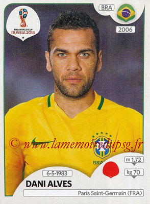 2018 - Panini FIFA World Cup Russia Stickers - N° 355 - Dani ALVES (Bresil)
