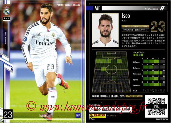 Panini Football League 2015 - PFL11 - N° 036 - ISCO (Real Madrid)