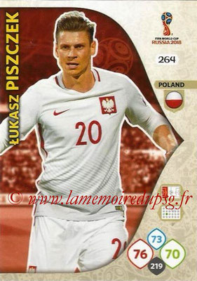 2018 - Panini FIFA World Cup Russia Adrenalyn XL - N° 264 - Lukasz PISZCZEK (Pologne)