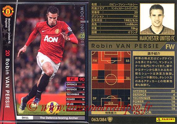 2012-13 - WCCF - N° 063 - Robin VAN PERSIE (Manchester United FC)