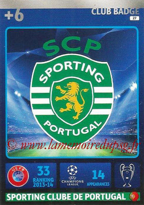 2014-15 - Adrenalyn XL champions League N° 027 - Logo Sporting Club du Portugal (Club Badge)