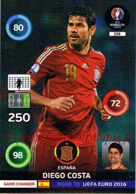 Panini Road to Euro 2016 Cards - N° 328 - Diego COSTA (Espagne) (Game Changer)