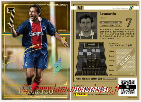 Panini Football League 2015 - PFL09 - N° 123 - LEONARDO (Paris Saint-Germain) (Legend)