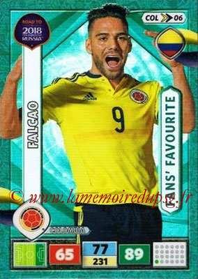 2018 - Panini Road to FIFA World Cup Russia Adrenalyn XL - N° COL06 - FALCAO (Colombie) (Fans' Favourite)