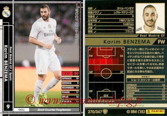 2015-16 - Panini WCCF - N° 270 - Karim BENZEMA (Real Madrid CF)