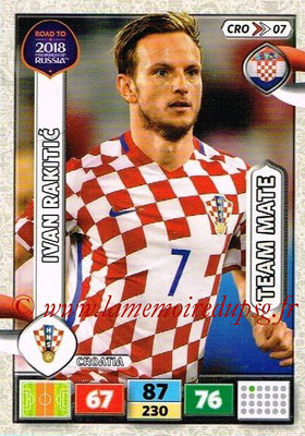 2018 - Panini Road to FIFA World Cup Russia Adrenalyn XL - N° CRO07 - Ivan RAKITIC (Croatie)
