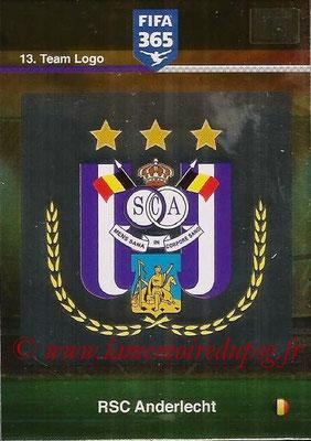 2015-16 - Panini Adrenalyn XL FIFA 365 - N° 013 - Ecusson RSC Anderlecht (Team Logo)