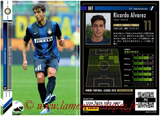 Panini Football League 2013 - PFL01 - N° 029 - Ricardo Alvarez ( F.C. Internazionale )