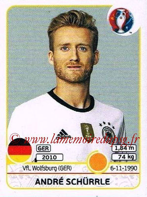 Panini Euro 2016 Stickers - N° 253 - André SCHURRLE (Allemagne)