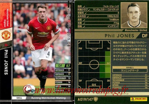 2014-15 - WCCF - N° A019 - Phil JONES (Manchester United FC)