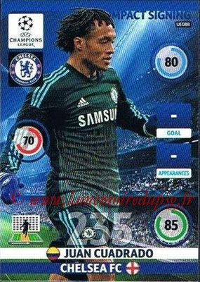 2014-15 - Adrenalyn XL champions League Update edition N° UE088 - Juan CUADRADO (Chelsea FC) (Impact Signing)