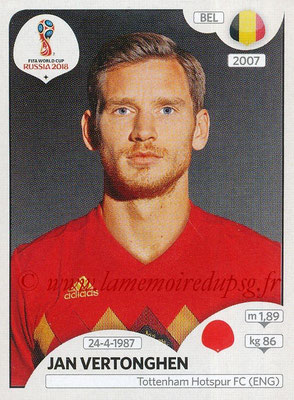 2018 - Panini FIFA World Cup Russia Stickers - N° 517 - Jan VERTONGHEN (Belgique)