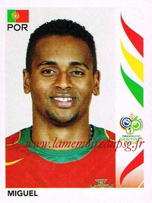 2006 - Panini FIFA World Cup Germany Stickers - N° 287 - MIGUEL (Portugal)