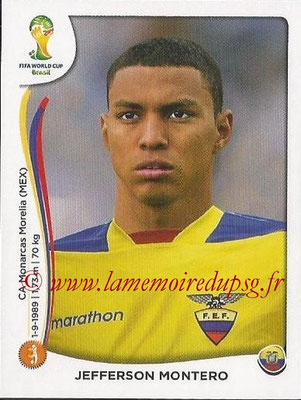 2014 - Panini FIFA World Cup Brazil Stickers - N° 371 - Jefferson MONTERO (Equateur)