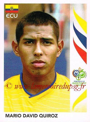2006 - Panini FIFA World Cup Germany Stickers - N° 085 - Mario David QUIROZ (Equateur)