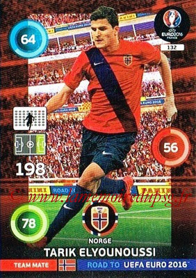 Panini Road to Euro 2016 Cards - N° 132 - Tarik ELYOUNOUSSI (Norvège)