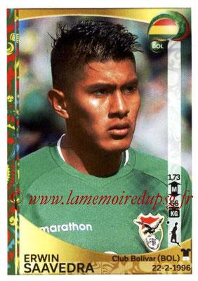 Panini Copa America Centenario USA 2016 Stickers - N° 382 - Erwin SAAVEDRA (Bolivie)