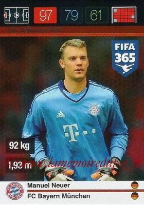 2015-16 - Panini Adrenalyn XL FIFA 365 - N° 248 - Manuel NEUER (FC Bayern Munich) (Defensive Rock)