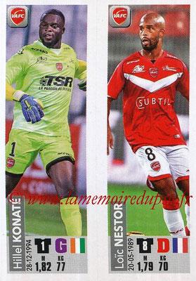 2018-19 - Panini Ligue 1 Stickers - N° 561 - Hillel KONATE + Loïc NESTOR (Valenciennes AFC)