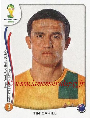 2014 - Panini FIFA World Cup Brazil Stickers - N° 178 - Tim CAHILL (Australie)