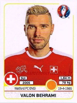 Panini Euro 2016 Stickers - N° 110 - Valon BEHRAMI (Suisse)