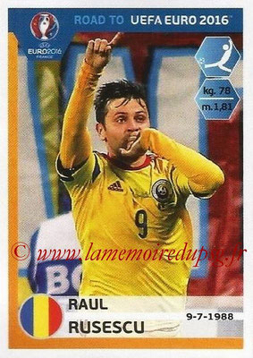 Panini Road to Euro 2016 Stickers - N° 256 - Raul RUSESCU (Roumanie)