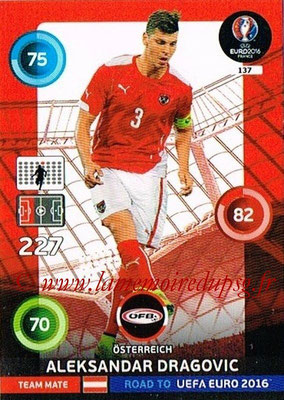 Panini Road to Euro 2016 Cards - N° 137 - Aleksandar DRAGOVIC (Autriche)