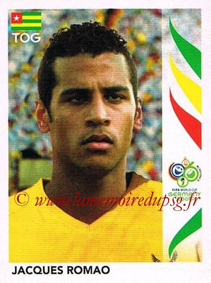 2006 - Panini FIFA World Cup Germany Stickers - N° 524 - Jacques ROMAO (Togo)