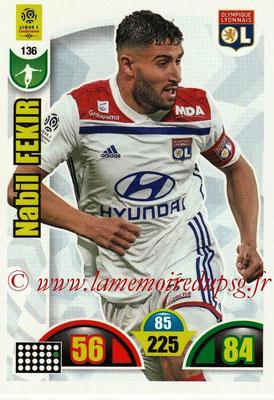 2018-19 - Panini Adrenalyn XL Ligue 1 - N° 136 - Nabil FEKIR (Lyon)