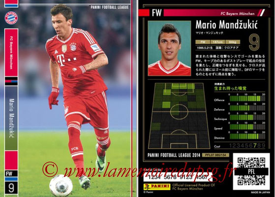 Panini Football League 2014 - PFL07 - N° 085 - Mario MANDZUKIC (Bayern Munich)