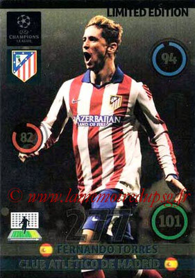 2014-15 - Adrenalyn XL champions League Update edition N° LEU-FT - Fernando TORRES (Atletico Madrid) (Limited Edition)
