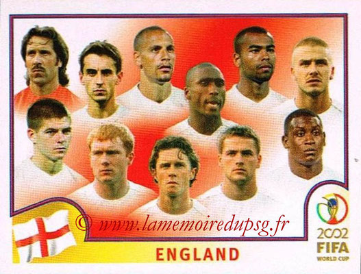2002 - Panini FIFA World Cup Stickers - N° 421 - Equipe Angleterre