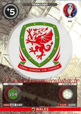 Panini Euro 2016 Cards - N° 442 - Logo de Pays de Galles (Team Logo)