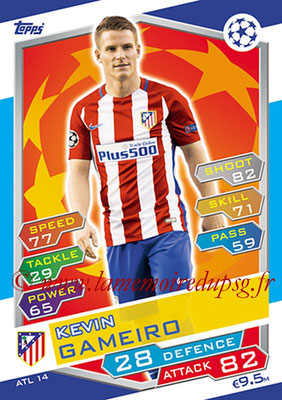 2016-17 - Topps UEFA Champions League Match Attax - N° ATL14 - Kevin GAMEIRO (Club Atletico de Madrid)