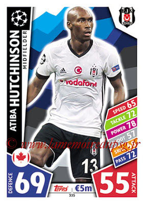 2017-18 - Topps UEFA Champions League Match Attax - N° 335 - Atiba HUTCHIINSON (Besiktas JK)