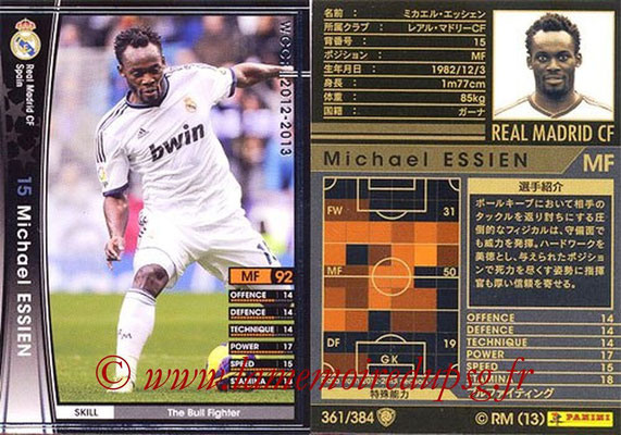 2012-13 - WCCF - N° 361 - Michael ESSIEN (Real Madrid CF)